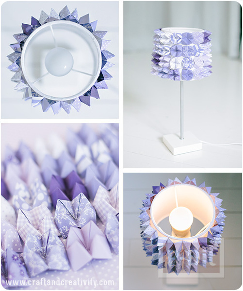 รูป 2 โคมไฟสวยๆ ตกแต่งด้วยกระดาษสี