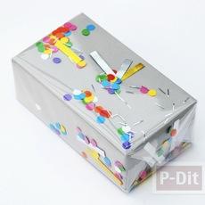 ไอเดียห่อของขวัญ ด้วยพลาสติก เศษกระดาษสี