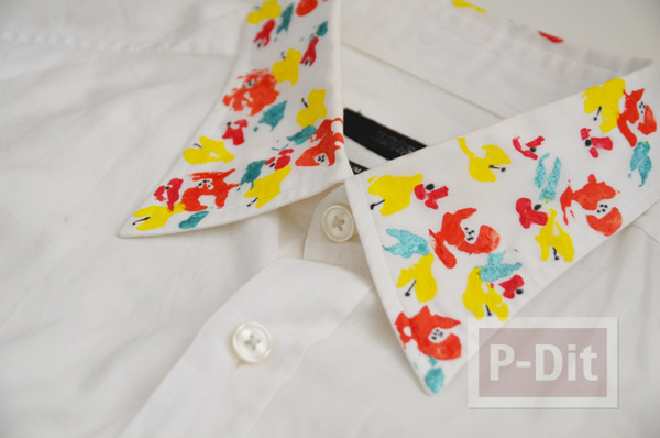 รูป 1 คอปกเสื้อ ตกแต่งสีสวย จากสีน้ำ