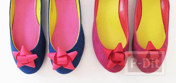 รูป 3 รองเท้าคัชชู ตกแต่งลายโบว์