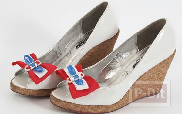 รองเท้า ตกแต่งโบว์สวยๆ สีสดใส