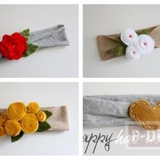 สอนทำที่คาดผม จากผ้า ประดับลายดอกไม้ประดิษฐ์