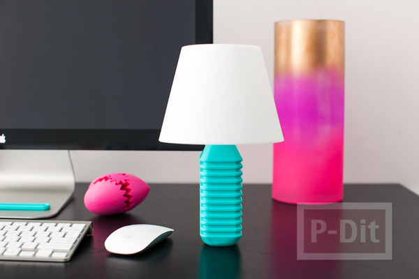 รูป 1 โคมไฟตั้งโต๊ะสวยๆ ตกแต่งแบบง่ายๆ