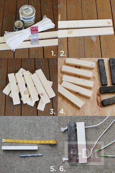 รูป 2 สอนทำที่วางหม้อร้อนๆ จากท่อนไม้