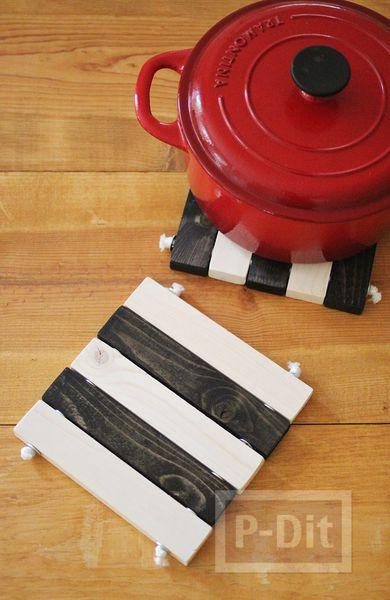 รูป 3 สอนทำที่วางหม้อร้อนๆ จากท่อนไม้
