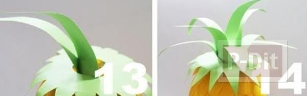 รูป 4 โคมไฟสัปปะรด ทำจากช้อนพลาสติก ขวดพลาสติก