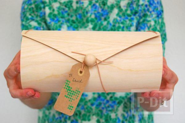 กล่องของขวัญ ประดิษฐ์เป็นทรงกระบอก