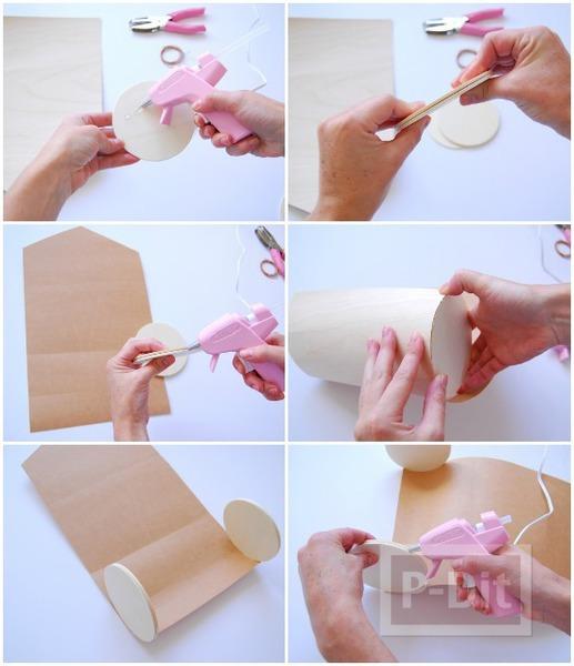 รูป 3 กล่องของขวัญ ประดิษฐ์เป็นทรงกระบอก