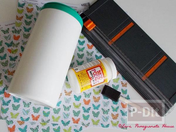 รูป 2 ทำที่ใส่ถุงพลาสติกใบเก่า จะกระป๋อง