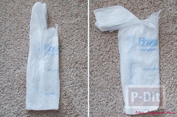 รูป 4 ทำที่ใส่ถุงพลาสติกใบเก่า จะกระป๋อง