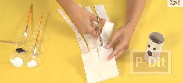 รูป 4 ตุ๊กตาผีน้อย ทำจากแกนกระดาษทิชชู