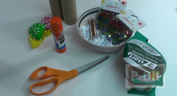 รูป 2 ทำของเล่น งานปาร์ตี้ ปืนยิงดาว จากลูกโป่ง-แกนกระดาษทิชชู