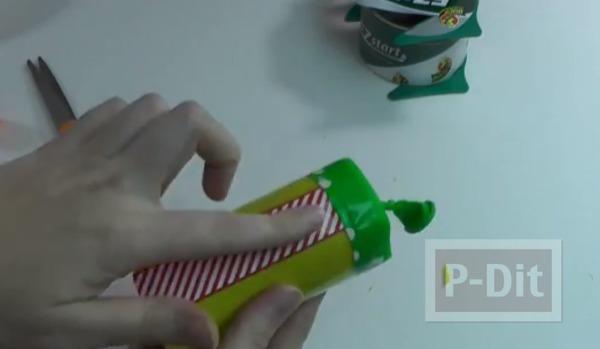 รูป 4 ทำของเล่น งานปาร์ตี้ ปืนยิงดาว จากลูกโป่ง-แกนกระดาษทิชชู