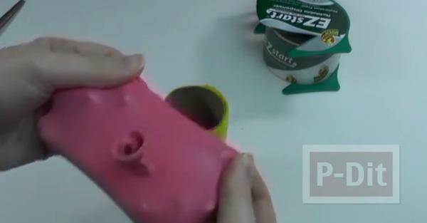 รูป 6 ทำของเล่น งานปาร์ตี้ ปืนยิงดาว จากลูกโป่ง-แกนกระดาษทิชชู
