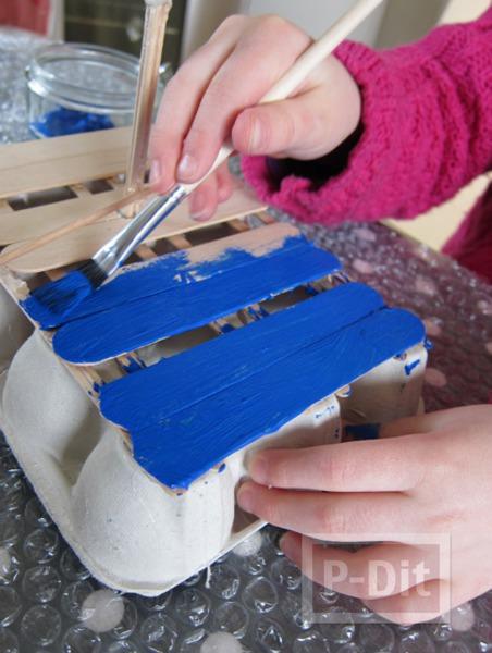 รูป 3 เรือโจรสลัด ทำจากรังไข่ กระดาษ