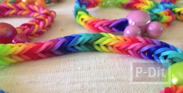 สอนทำสร้อยข้อมือสีสด จากยางรัดเส้นเล็กๆ