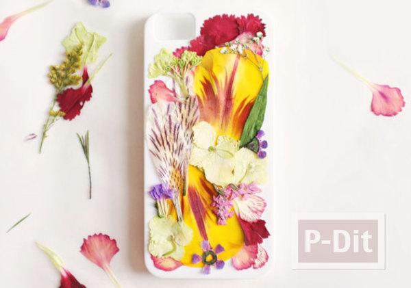 รูป 4 เคสมือถือ ตกแต่งสวยๆ จากดอกไม้แห้ง