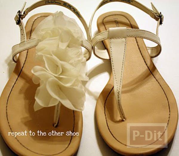 รูป 7 รองเท้ารัดส้น ตกแต่งลายดอก