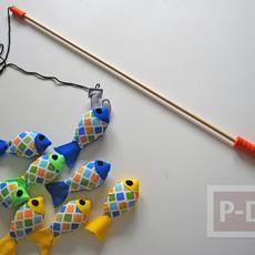 สอนทำของเล่น เบ็ดตกปลา (สำหรับเด็กเล็ก)