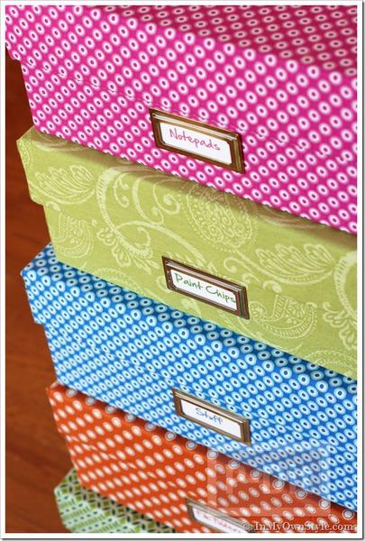กล่องเก็บของ ประดิษฐ์จากกล่องรองเท้า