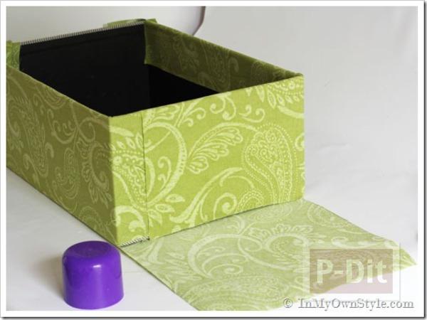 รูป 3 กล่องเก็บของ ประดิษฐ์จากกล่องรองเท้า