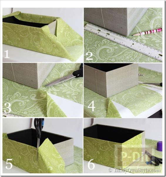รูป 4 กล่องเก็บของ ประดิษฐ์จากกล่องรองเท้า