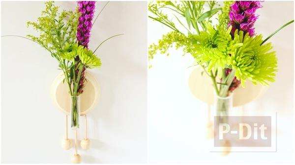 รูป 1 แจกันดอกไม้ ติดผนัง ตกแต่งจากไม้
