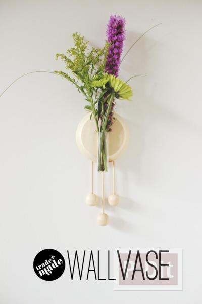 รูป 3 แจกันดอกไม้ ติดผนัง ตกแต่งจากไม้