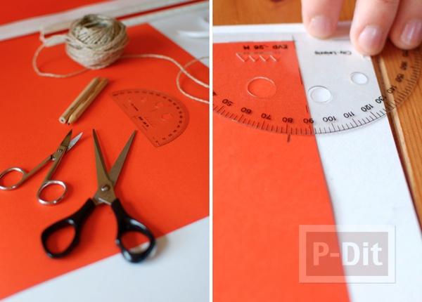 รูป 3 กรวยใส่ขนม ประดิษฐ์จากกระดาษ