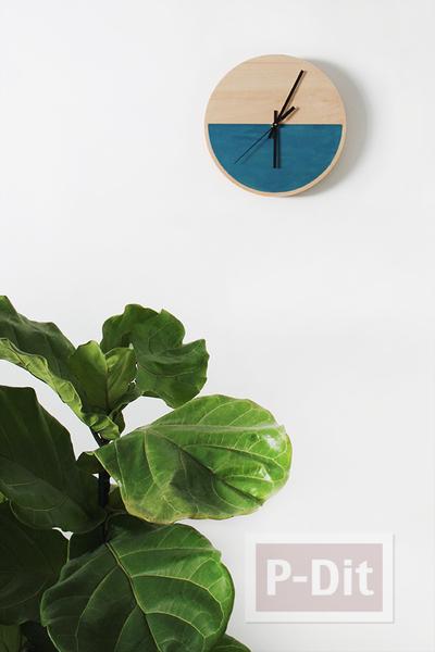 ประดิษฐ์นาฬิกา จากแผ่นไม้