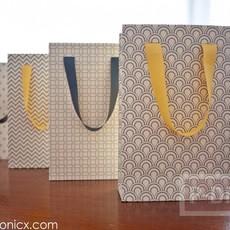 ประดิษฐ์ถุงของขวัญ จากกระดาษแข็ง ลายสวย