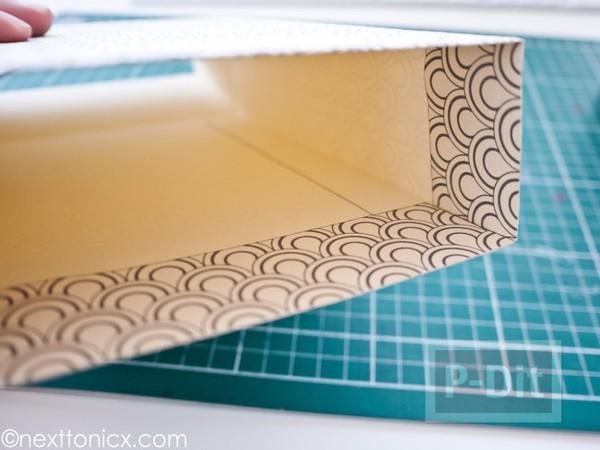 รูป 4 ประดิษฐ์ถุงของขวัญ จากกระดาษแข็ง ลายสวย
