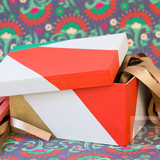 สอนตกแต่งกล่องของขวัญ เทศกาลปีใหม่