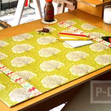แผ่นรองโต๊ะทำงาน ประดิษฐ์จากกระดาษแข็ง
