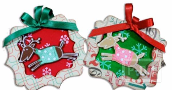 รูป 1 การ์ดเล็กๆ ประดับกล่องของขวัญ วันคริสต์มาส
