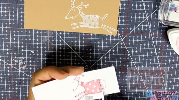 รูป 4 การ์ดเล็กๆ ประดับกล่องของขวัญ วันคริสต์มาส