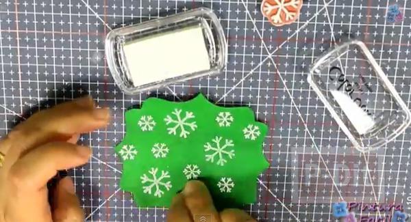 รูป 6 การ์ดเล็กๆ ประดับกล่องของขวัญ วันคริสต์มาส