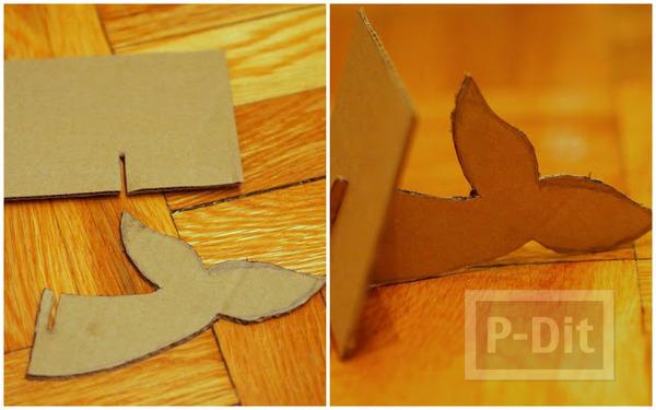 รูป 2 กล่องใส่กระดาษทิชชู ทำเอง น่ารัก ลายช้างสีฟ้า