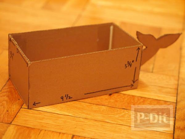 รูป 4 กล่องใส่กระดาษทิชชู ทำเอง น่ารัก ลายช้างสีฟ้า