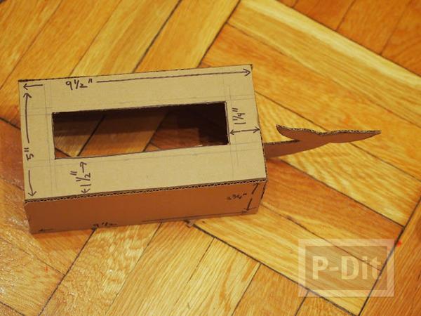 รูป 5 กล่องใส่กระดาษทิชชู ทำเอง น่ารัก ลายช้างสีฟ้า