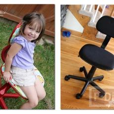 เปลี่ยนเก้าอี้สีดำ ให้มีสีสันสดใส ลายสวย