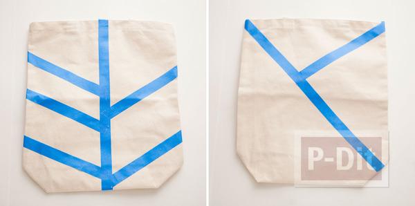 รูป 3 ถุงผ้า ตกแต่งลายสวย จากสีสเปรย์