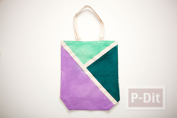 รูป 5 ถุงผ้า ตกแต่งลายสวย จากสีสเปรย์
