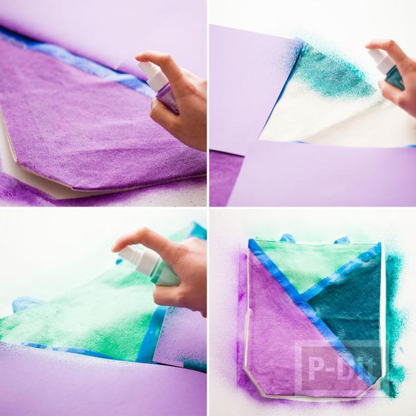 รูป 6 ถุงผ้า ตกแต่งลายสวย จากสีสเปรย์