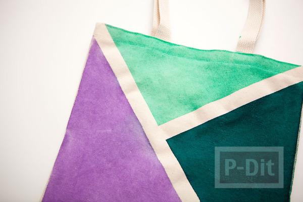รูป 7 ถุงผ้า ตกแต่งลายสวย จากสีสเปรย์