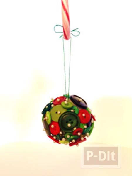 รูป 5 ของตกแต่งวันปีใหม่ คริสต์มาส ลูกบอลกระดุม + ต้นคริสต์มาส
