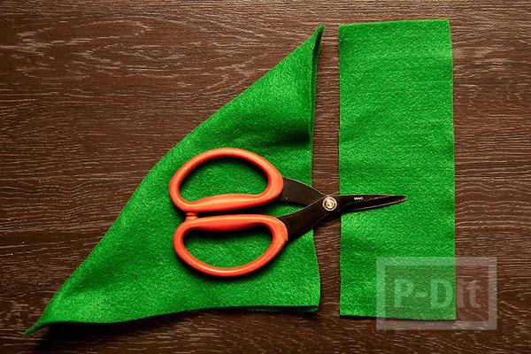 รูป 3 ทำของประดับต้นคริสต์มาส สีแดง เขียว สีสด