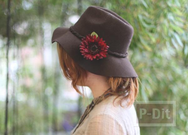 ตกแต่งหมวกใบสวย ด้วยดอกไม้ประดิษฐ์