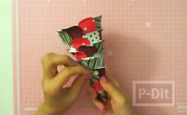 รูป 7 ทำต้นคริสต์มาสสวยๆ ประดิษฐ์จากกระดาษ