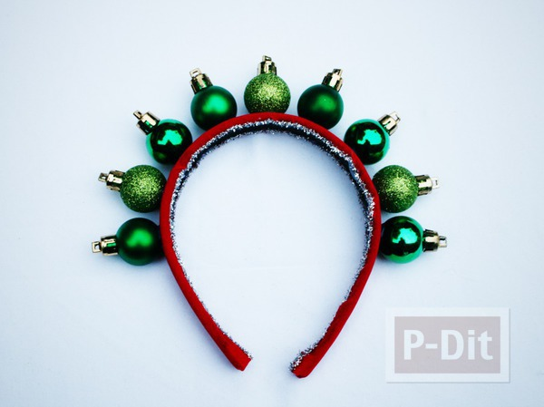 รูป 5 ที่คาดผมสวยๆ สีแดง-เขียว วันคริสต์มาส